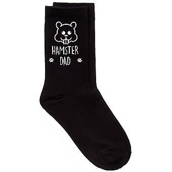 Hámster papá becerro negro calcetines