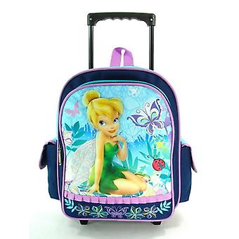 Small Rolling Backpack - Disney - Tinkerbell - Fairies - Navy Blue New 614232