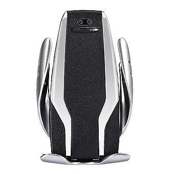 S6 Autós telefontartó Auto-mozgatható karok és vezeték nélküli töltés-ezüst