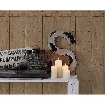 A.S. creatie als creatie Vintage houten paneel patroon behang realistische hout getextureerde 306841