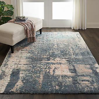 Corsica Shag Rugs Crc02 In Slate Blue By Nourison