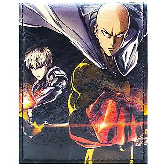 One Punch Man Saitama & Genos Fighting Heroes Bi-Fold Wallet