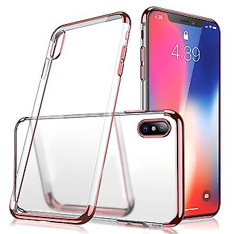 Case Back cover Clear for Apple iPhone Xs Max rose Gold