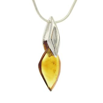 Nova Silver - Women's necklace with amber - silver sterling 925 - cod. AA/P321