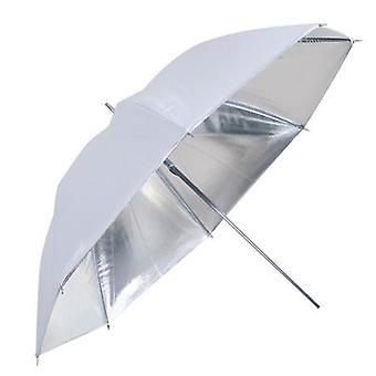 BRESSER SM-04 reflekterande paraply vit/Silver 109 cm
