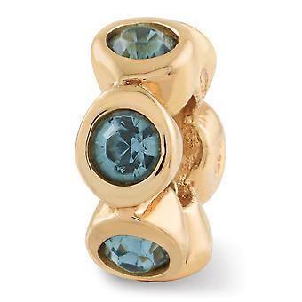 925 Sterling Silber poliert 14 k Gold vergoldet Reflexionen Dec Kristall Perle Anhänger Anhänger Halskette Schmuck Geschenke für Frauen