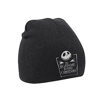 The Nightmare Before Christmas Beanie Hat Movie Logo Official Mens New Black