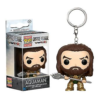 Justice League Movie Aquaman Pocket Pop! Keychain