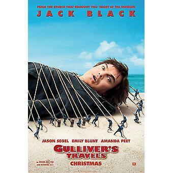 Gulliver & ق يسافر ملصق مزدوج من جانب مقدما (2010) ملصق السينما الأصلي