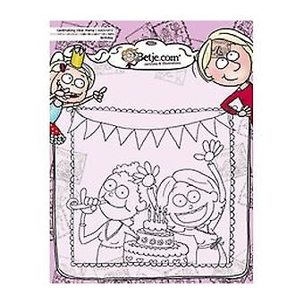 Aurelie Betje Birthday Cardmaking Clear Stamp