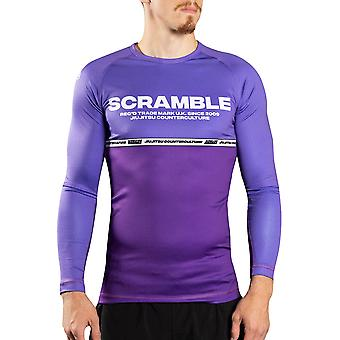 Scramble BJJ Ranked Long Sleeve Rashguard - Purple