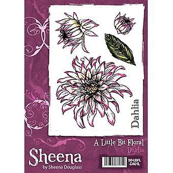 Un peu floral A6 Rubber Stamp Set - Timbre Dahlia
