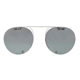 Oliver Peoples Gregory Peck Clip-On OV5186C 5036 Silber/Polarisierte graue Sonnenbrille