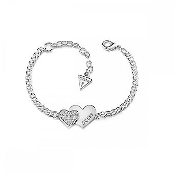 Guess Jewellery Guess Me And You Double Heart Bracelet UBB84123-L