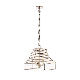 Endon Dempsey 3 lys vedhæng poleret rustfrit stål, glas 73127