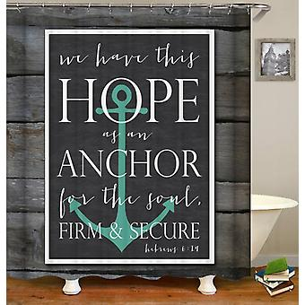 Bible's Anchor Quote Shower Curtain