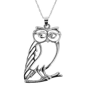 Fantasy Animal Owl Shaped Necklace Pendant - Includes A 22