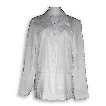 BROOKE SHIELDS Timeless Women's Blazer Lightweight White A352808