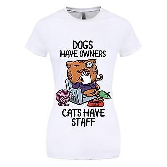 Grindstore naisten/naisten koirat ovat omistajat kissat on henkilö kunta T-paita