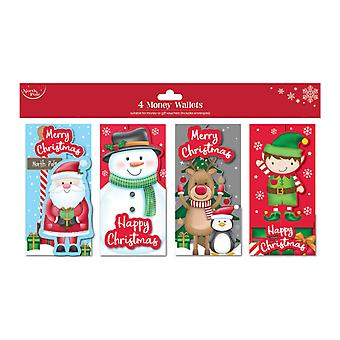 North Pole Christmas Money Wallets (Pack of 4)