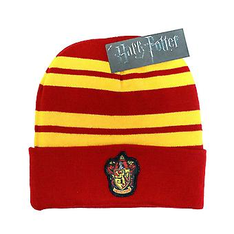 Harry Potter Beanie Hat Gryffindor House crest Logo patch new Official