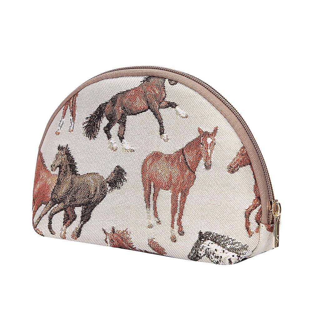 Running horse big cosmetic bag by signare tapestry / bgcos-rhor