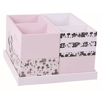 Set Desk Minnie Wooden Containers