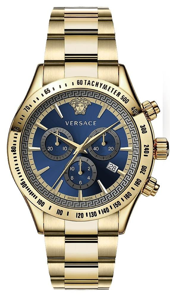 Versace Vev700619 Chrono Classic Men's Watch Chronograph 44 Mm