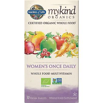 Garden Of Life Mykind Organics Women's Once Daily Caps 30 1228