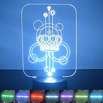 Crown Decorative Rectangle Colour Changing LED Acrylic Light