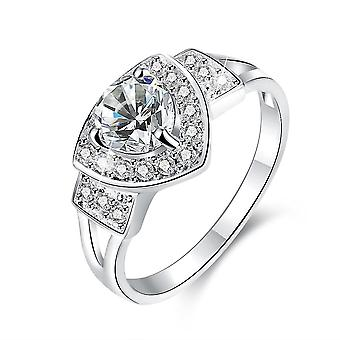 18k white-gold plated lucie ring