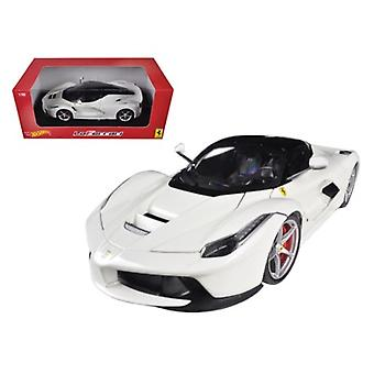 Ferrari Laferrari F70 Hybrid White 1/18 Diecast Car Model par Hotwheels
