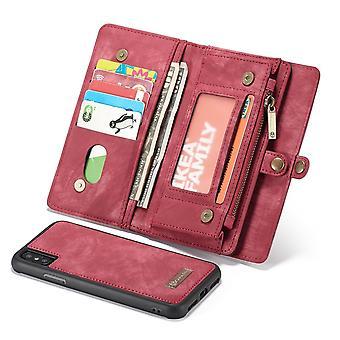 ajaksi iPhone XS max asia punainen nahka monikäyttöinen asia,11 korttipaikkaa