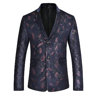 Alle Themen Men's gedruckt Anzug Jacke formale Hochzeit Party Bankett Kleid Anzug Jacke