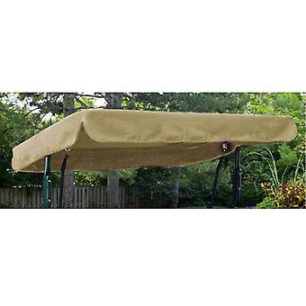 Stone Water Resistant 2 Seater Replacement Canopy for Garden Hammock Swing Seat