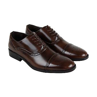 Unlisted by Kenneth Cole Half Time Break Mens Brown Dress Lace Up Oxfords Shoes