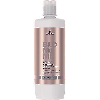 BLONDME Keratin Restore Bonding Shampoo  All Blondes 1L