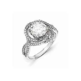 Cheryl M 925 Sterling Argent CZ Cubic Zirconia Simulated Diamond Fancy Bijoux Bijoux pour les femmes - Taille de l'anneau: 6 à 8