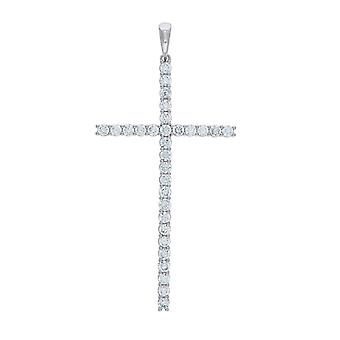 925 Sterling Ezüst Férfi CZ Cubic Cirkónia szimulált Diamond Cross vallási medál nyaklánc Charm Ékszer Ajándékok számomra