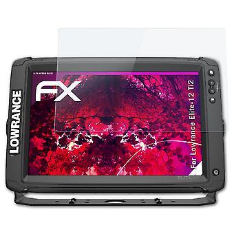 atFoliX sklenený chránič kompatibilný s Lowrance Elite-12 Ti2 sklo ochranný film 9H Hybrid-Glass