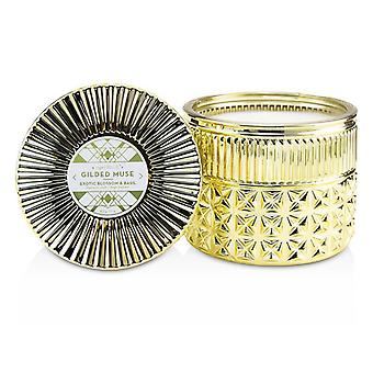 Capri Blue Gilded Muse Faceted Jar Candle - Exotic Blossom & Basil 312g/11oz