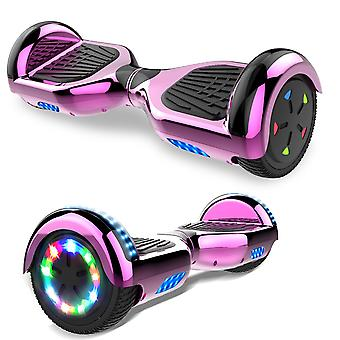 Right Choice Hoverboard Scooter eléctrico autoequilibrado - incorporado en altavoces Bluetooth - ROSA LED rueda-cromo