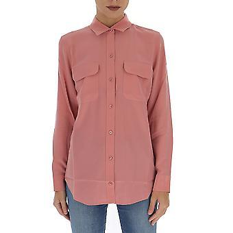 Equipment 195q23e231tp03406dustyrose Women's Pink Silk Shirt