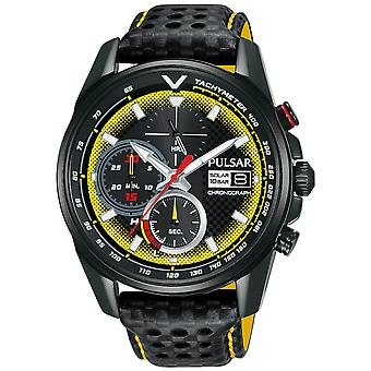 Pulsar active Solar Analog Man watch with PZ6041X2 Cowhide Bracelet