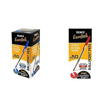Texet Ballpoint Pens (Pack Of 50)