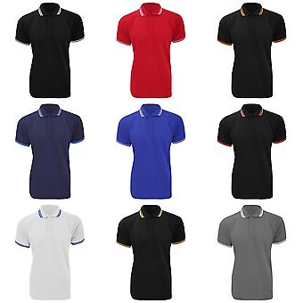 Kustom Kit Mens Tipped Polo Piqué courtes manches