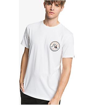 Quiksilver Close Call Korte Mouw T-shirt in het wit