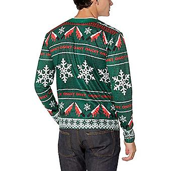 Faux Real Men's 3D Photo-Realistic Licensed Christmas Sweater Long Sleeve T-S...