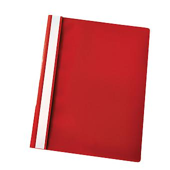 RVFM Flat File Polypropylene A4 Red Pack of 25