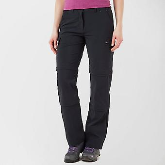 Peter Storm Women's Stretch Double Zip Off Trousers Black